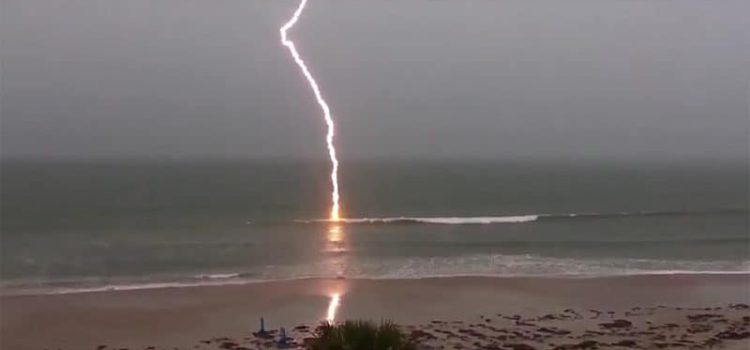BELGIAN SURFER STRUCK BY LIGHTING