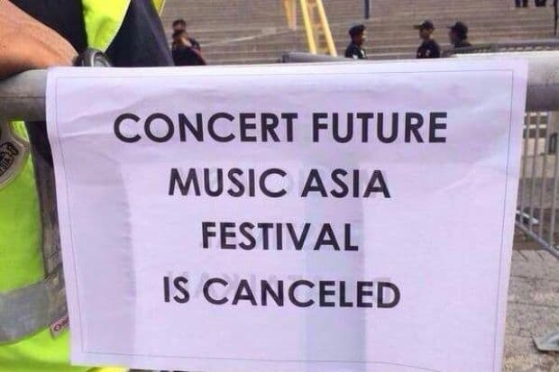 OFFICIAL STATEMENT ON THE CANCELLATION OF FUTURE MUSIC FESTIVAL ASIA 2015