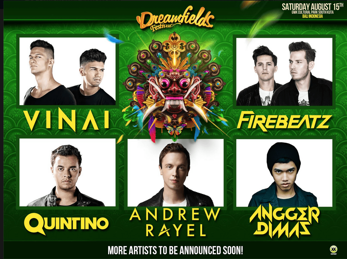 dreamfields announces first 5 acts.