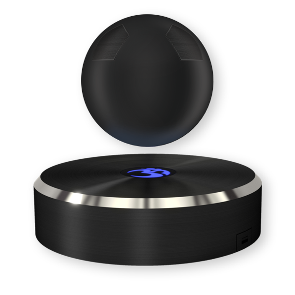 THE FUTURE OF BLUETOOTH SPEAKERS IS HERE WITH THE WORLD'S FIRST LEVITATING SPEAKER