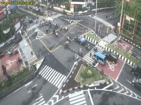 Stop Only Outside of the Box : Bali Police Introducing Yellow Box Junctions to Reduce Traffic Gridlock