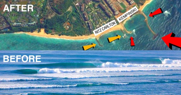 KEMPINSKI & RITZ CARLTON STOP DESTROYING WAVES IN BALI!