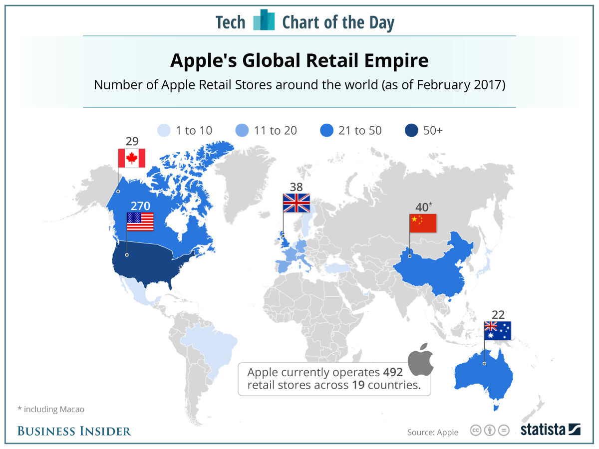 HOW APPLE RETAIL SPREADS ACROSS THE GLOBE