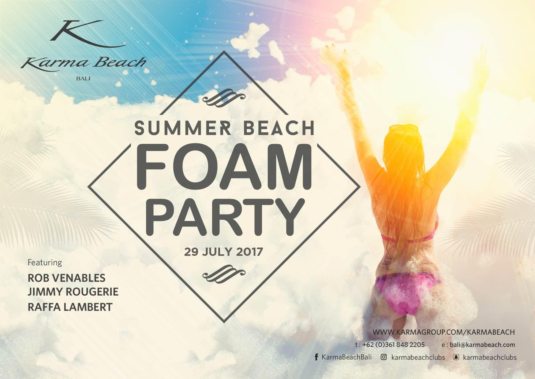 SUMMER BEACH FOAM PARTY