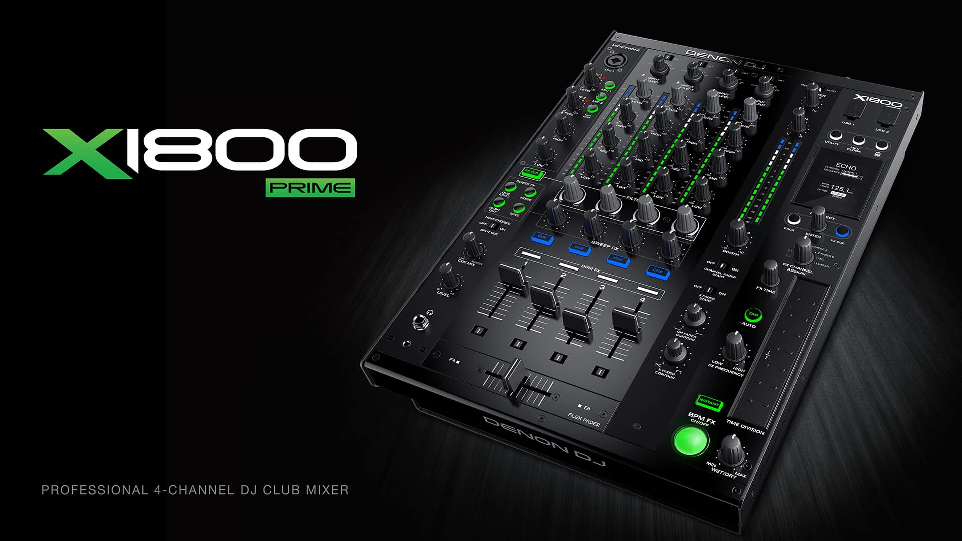 DENON DJ X1800 PRIME – PROFESSIONAL 4-CHANNEL DJ CLUB MIXER