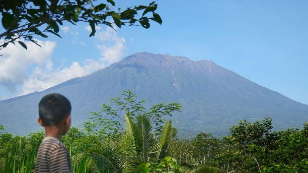 BALI'S VOLCANO'S ALERT STATUS LOWERED AFTER DECREASED ACTIVITY