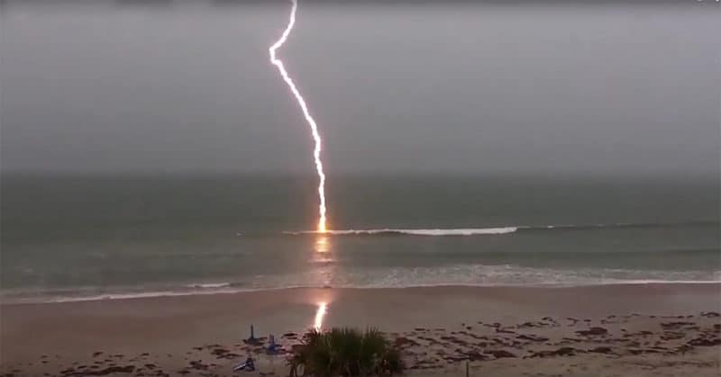 BELGIAN SURFER STRUCK BY LIGHTING