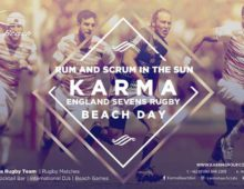 ENGLAND SEVENS RUGBY BEACH DAY