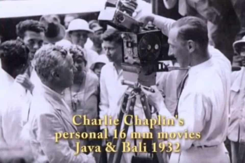 INCREDIBLE CHARLIE CHAPLIN HOME VIDEO TRAVELING JAVA AND BALI IN 1932