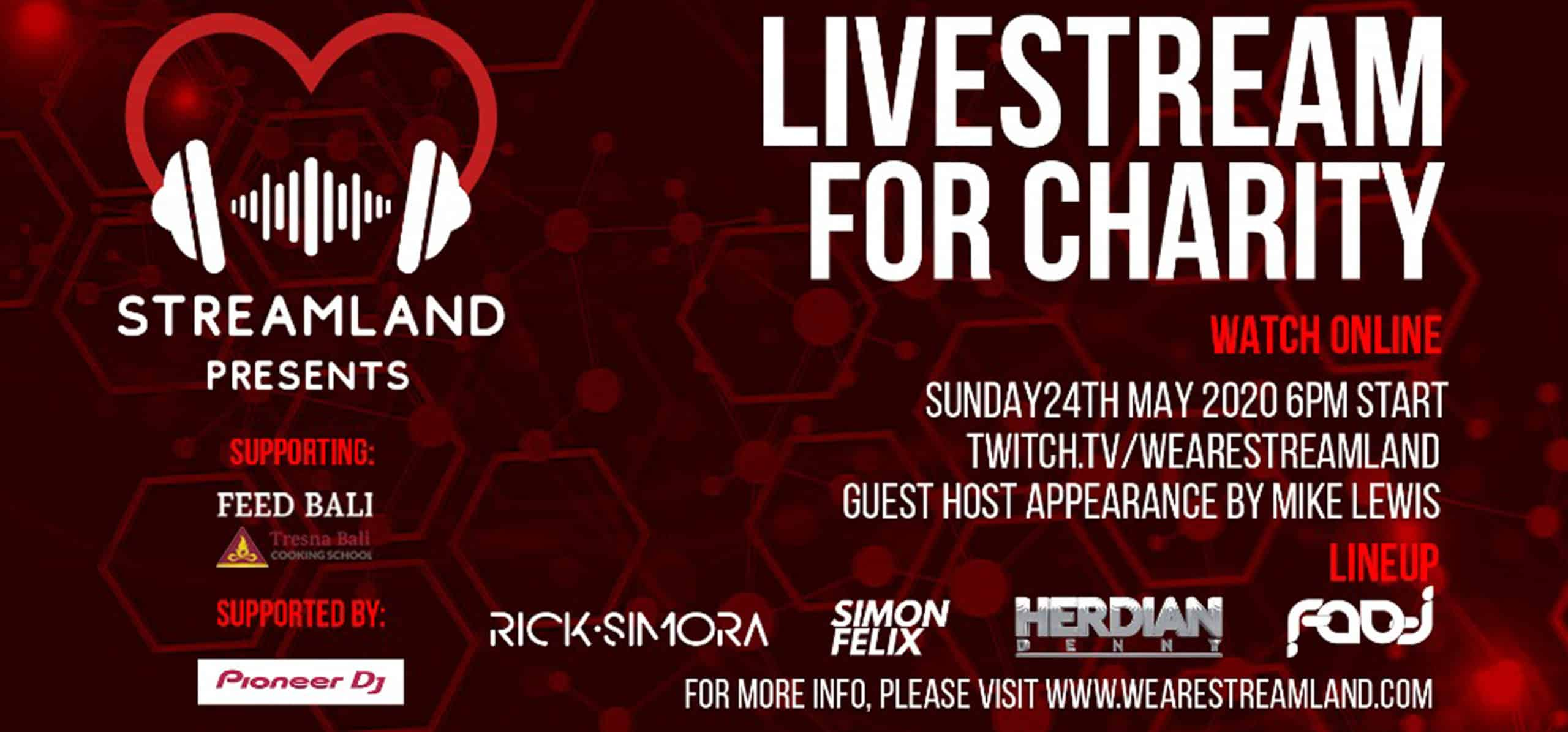STREAMLAND – LIVESTREAM FOR CHARITY (BALI)